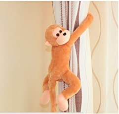 Frantic Long Arm Hanging Capuchin Monkey Stuffed Soft Plush Toy with Outstretched Velcro Hands (25cm)
