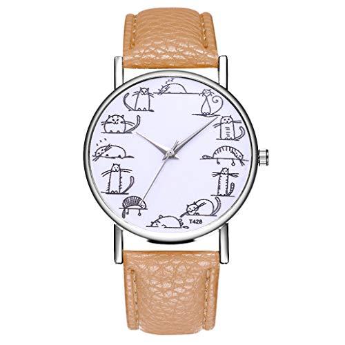 Damen Jugendliche Mädchen Wasserdicht Echtleder Designer Uhren Frauen Leuchtend Mode Elegant Analog Quarz Armbanduhr Weiblich Luxus Bling Kristall Accentted Dial Uhr Khaki