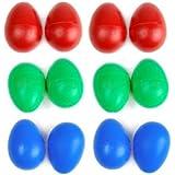 LEORX Percusión plástico huevo Musical Maracas huevo cocteleras juguetes para niño niños 12pcs (Color al azar)