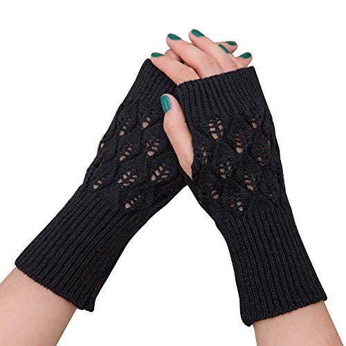 Amorar Frauen Winter Handschuhe Fingerlose Armwärmer Muffs Armstulpen Kurzarm Wrap Warmers Handstulpen Fäustlinge Hollow Wrist Warner Pulswärmer,EINWEG Verpackung
