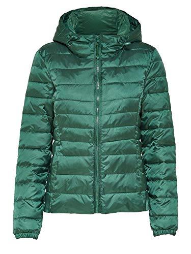 ONLY Damen Steppjacke Übergangsjacke Kapuzenjacke Leichte Jacke (L, Hunter Green)