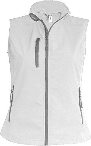 K404 Damen Softshell Bodywarmer Weste wasserdicht atmungsaktiv, Größe:3XL;Farbe:White