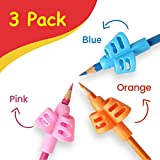 Pencil Grips for Children - Writing Aid Grip - Posture Correction Tool - For Lefties and Righties - Handwriting Aid - Autism - Special Needs - Ergonomic Training Pencil Grip - 3Pack