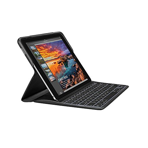 Logitech Create iPad Pro da 9,7' Custodia con Tastiera Wireless Retroilluminata e Tecnologia Smart Connector, Prima Generazione, Nero, QWERTY Layout Italiano