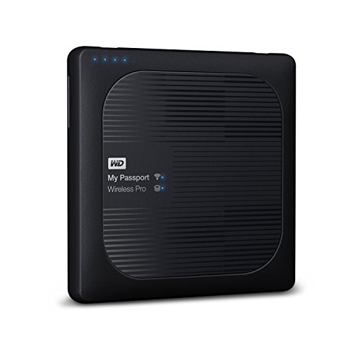 WD 2TB My Passport Wireless Pro Portable External Hard Drive - WIFI USB 3.0 - WDBP2P0020BBK-NESN  available at amazon for Rs.27749