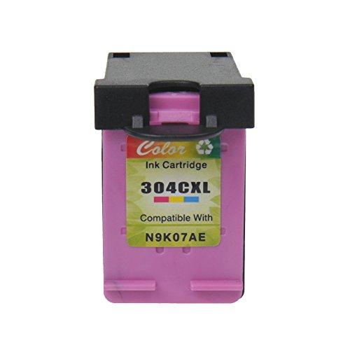 High-yield-tinte (nineleaf Hohe Kapazität 450Seiten wiederaufbereitete 304x l 304XL n9K07an Tintenpatronen kompatibel für HP Deskjet 3700372037213722373037323733375237553758(1Farbe, Show Tinte Level))