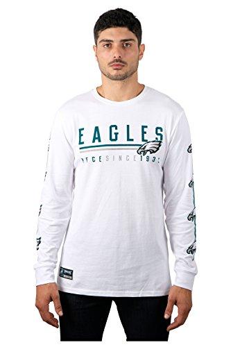 Icer Brands NFL Herren T-Shirt Active Light Long Sleeve Tee Shirt, Team Logo weiß, Herren, JLM2826F-PE-L, weiß, Large -