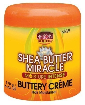 Ap Shea Butter Miracle Buttery Creme 6oz Jar (3 Pack) by AFRICAN PRIDE - 6 Oz Shea-butter
