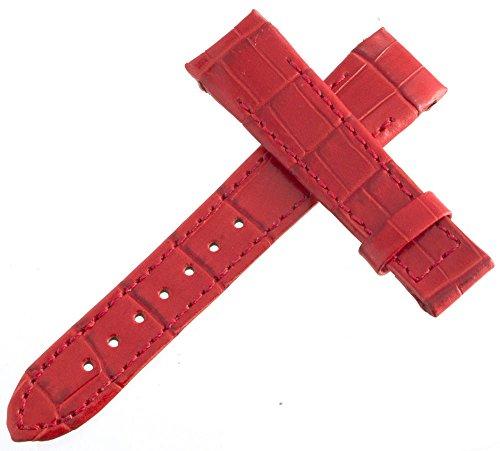 Armaan rot echt Leder Uhrenarmband mit Metall Befestigungslaschen 19mm x 16mm