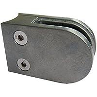 Pmc Zinc ROH Cristal Soporte para tubos de 42,4mm de zinc fundido a presión Zinc Raw Glass Clamp Mod: 02