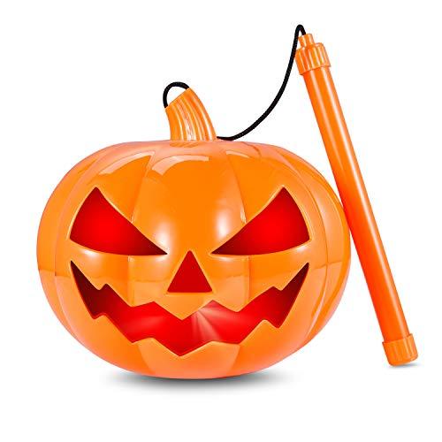 Halloween Kürbis Windlicht Laterne14cm Batteriebetrieben Kürbis Entwurf mit Griff und Sound Perfekte Party Favor Dekoration