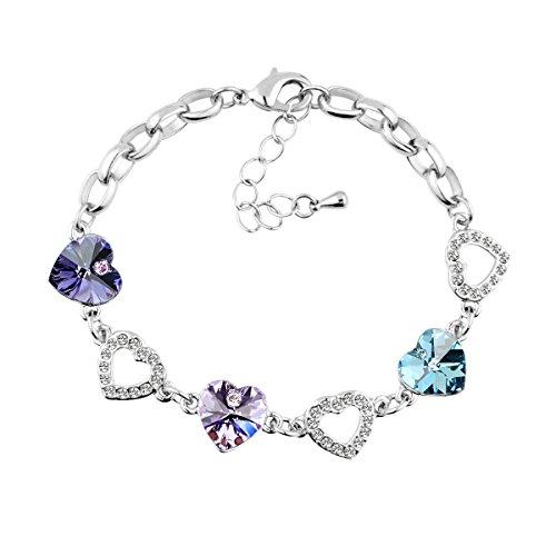 le-premiumr-corazon-enlace-pulsera-swarovski-corazon-tanzanita-purpura-y-aguamarina