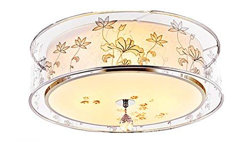 ayaya lampada da soffitto lampada da salotto camera da letto lampada rotonda tessuto filato lampada da soffitto in stile cinese orientale lampada 50cm, 24W - Arcobaleno Classico Filato