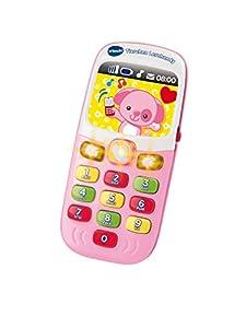 VTech Teléfono móvil de Juguete Baby; Modelo 80-138154, diseño animalito Lernhandy, Color Rosa