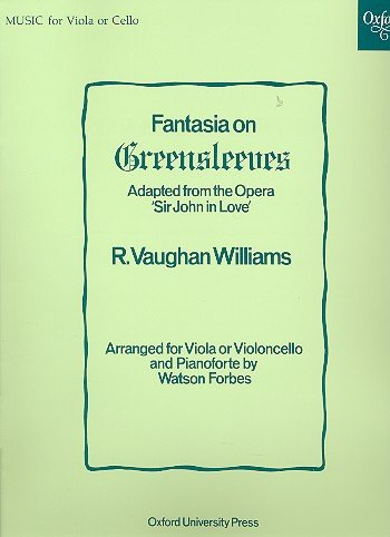 Piano Music Greensleeves Sheet (Fantasia on Greensleeves : for viola and piano)