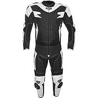 BI ESSE Tuta da MOTO per adulto in pelle e tessuto, divisibile in 2 pezzi giacca e pantalone, regolabile, completa di…