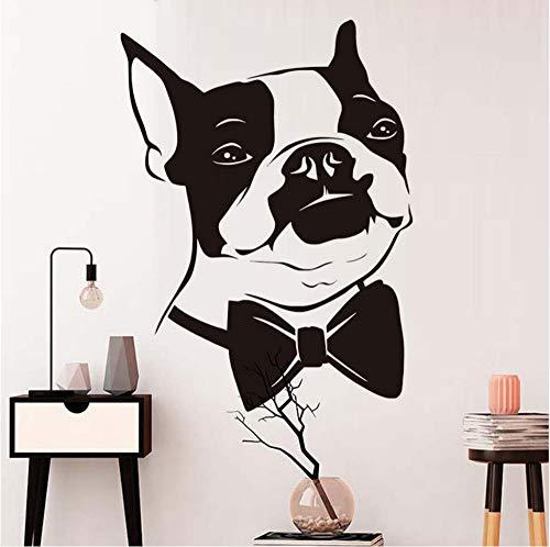 Finloveg Fliege Welpen Wandaufkleber Für Kinderzimmer Dekoration Boston Terrier Hund Abnehmbare Tapete Poster Wandtattoos Wohnkultur 43X59 Cm