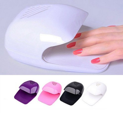 Zollyss Portable Mini Uv Touch Type Nail Dryer Fan For Curing Nail Gel Polish Dryer Winds Uniform Quickly Dries Wet Nails- Random Color