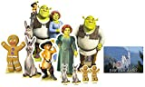 BundleZ-4-FanZ Shrek Table Top Cardboard Cutouts Party Pack of 10 (contains: Shrek, Fiona, Donkey, Puss in Boots, Gingy, Shrek Group plus 2 x Mini Donkeys and 2 x Mini Gingys) Includes 6x4 Star Photo