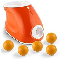 oneConcept Ballyhoo Lanzador de pelotas para perros (3 distancias, automático, portátil, funcionamiento a pilas, incluye 8 pelotas)