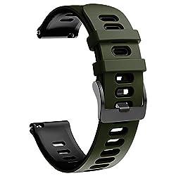 NotoCity Armband für Samsung Galaxy Watch 46mm/Gear S3 Frontier/Gear S3 Classic/Huawei Watch GT 2 /Huawei Watch GT/Sport/Active/Classic, 22mm Quick-Fit Ersatz Uhrenarmbänder (Armee Grün -Schwarz)