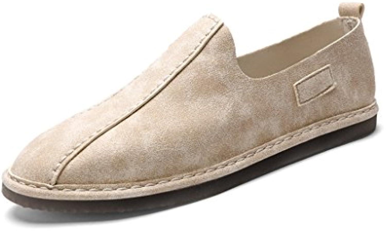 LIUXUEPING Nuevo Estilo Hombres Zapatos De Pedal Versión Coreana De Los Zapatos De Tela Temporada De Primavera  -