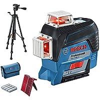 Bosch Professional Livella Laser GLL 3-80 C (con App, Treppiede, Raggio d'Azione: Fino a 30 m, 4 Batterie, AA, Confezione in Cartone)