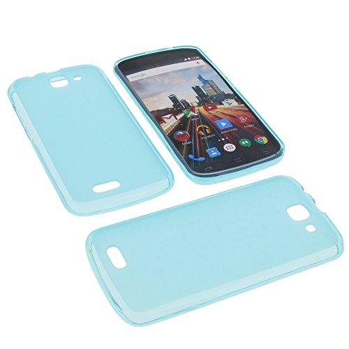 foto-kontor Tasche für Archos 50e Helium Gummi TPU Schutz Hülle Handytasche blau