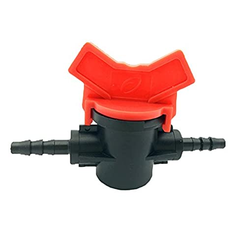 Adhere To Fly 4 Pcs Shut-Off Hose Valve, Water Butt Valve, Slotted Barbed Plastic Valves For Garden Irrigation