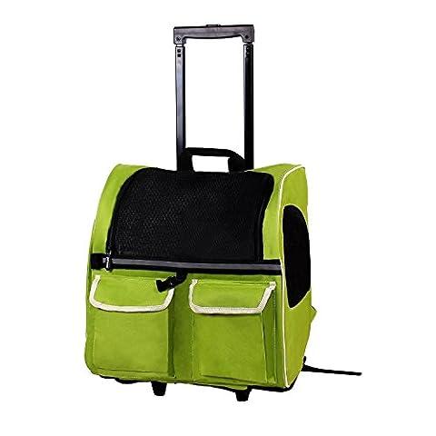 petcomer Rolle um in PET Carrier Portable Fluggesellschaften zugelassen Travel Rucksack Tote für Hunde Katzen kleine (Hund Pet Carrier)