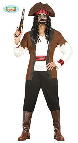 Piraten Kostüm für Herren , Größe:L (Alle Hände An Deck Kostüm)