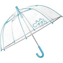 PERLETTI 15532 - Paraguas Transparente unisex, Paraguas de Burbuja, 64 cm de diámetro,