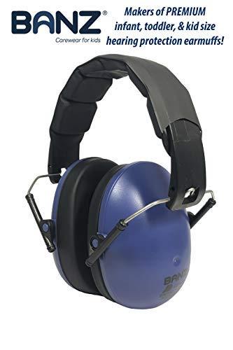 BANZ Ohrenschützer weich und bequem mit Schutz Hörgerät für Babys und Kinder klein (Rauschunterdrückung Bewertung Führer in der Industrie) Marine