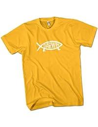 Darwin Fish Mens Premium T-Shirt Choice of 15 Colours Small to 3XL