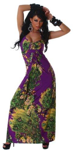 Graffith femme extra-robe dos nu à fleurs taille unique (34–38) Violet - Lilas