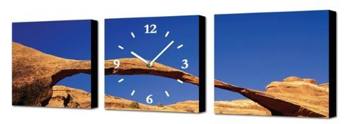 bb2e6d0c0923 RELOJ DE PARED DISENO THE ROCK - 3 PARTES - 2 IMAGENES y 1 RELOJ -