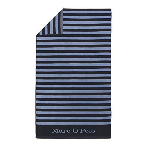 Marc O'Polo Strandlaken Saburo Blau Strandtuch Badetuch Streifen 100 cm x 180 cm