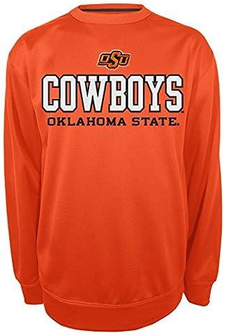 NCAA Oklahoma State Cowboys Long Sleeve Crew Neck Shirt, Medium, Orange