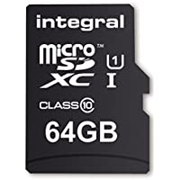 Integral UltimaPro 64 GB MicroSDXC Class 10 Memory Card up to 40 MB/s, U1 Rating