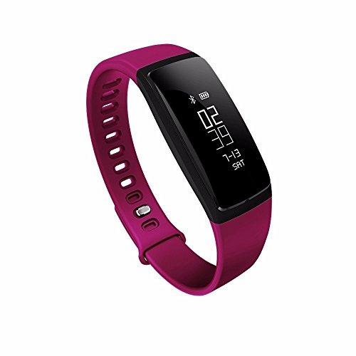 RIVERSONGFitness-Tracker-Heart-Rate-Monitor-di-pressione-sanguigna-Bracciale-sedentario-Ricordando-sonno-Alarm-Management-SNS-chiamata-di-promemoria-Contapassi-Sport-sana-attivit-Wristband-con-Touch-S