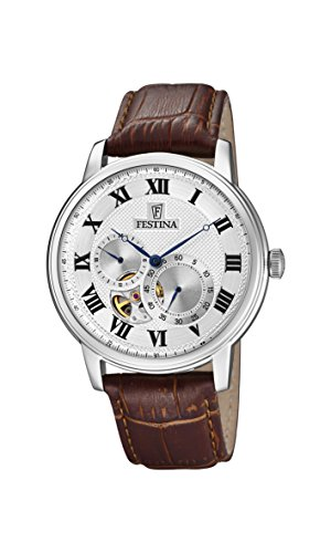 Festina Mens Analogue Classic Automatic Connected Wrist Watch with Leather Strap F6858/1