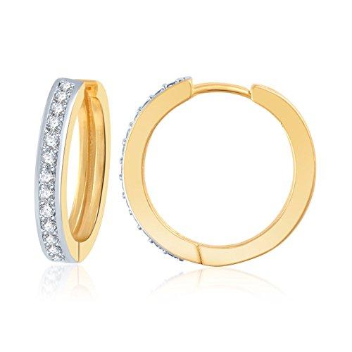 Meenaz Sterling-Silver Hoop Earring For Women White- B106