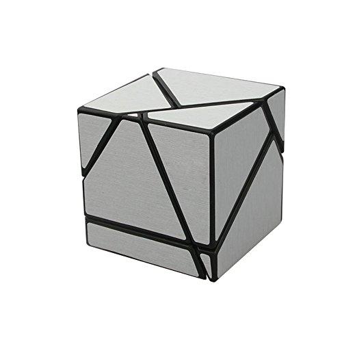 Wings of wind - Ghost Zauberwürfel Black Body DIY Neuer Aufkleber Speed Magic Cube, 2x2x2 Ghost Puzzle Cube (Silber)