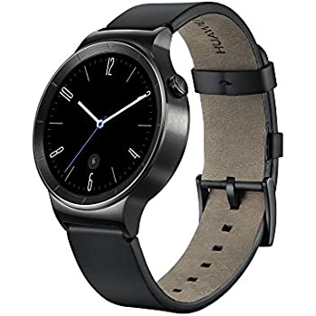 Huawei W1 Active Smartwatch with Leather Strap - Black