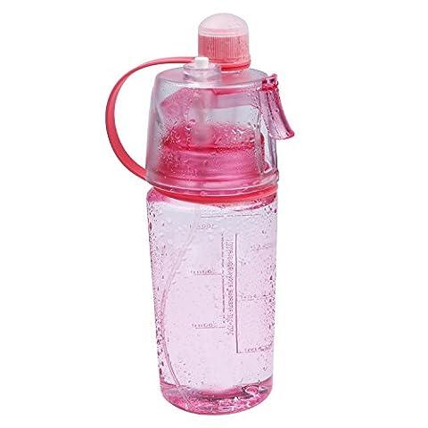 SPRAY Wasser Flasche, tragbar outdoor Sport Mist SIP Kühlung Trinkflasche Auslaufsicher für unterwegs Fahrrad Radfahren Gym, (Rosa 16 Ounce Tumbler)