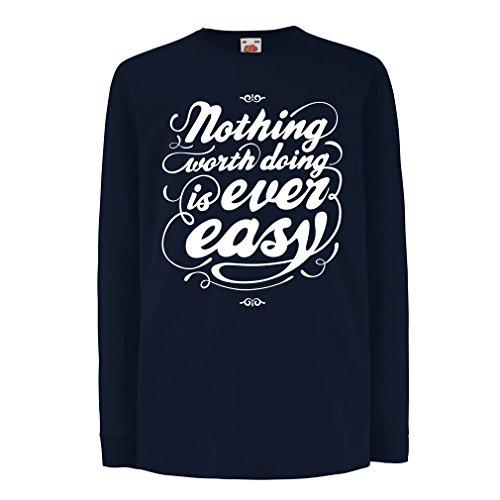 lepni.me Kinder-T-Shirt mit langen Ärmeln Motivationszitate für das Leben - Vintage Inspirational Lustige Sprüche (5-6 years Blau Mehrfarben) J Cole Kleidung