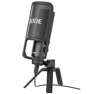 Rode NTUSB Studioqualität USB-Kondensatormikrofon mit Tischstativ und Popschutz