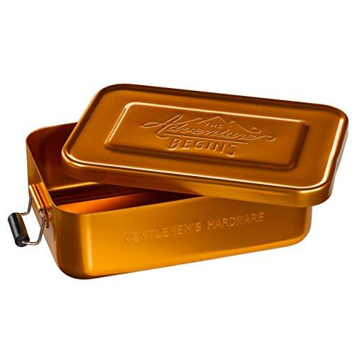 Gentleman 's Hardware Aluminium-Brotdose, Gold - 2