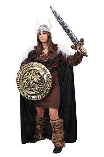 Prinzessin Kostüm Eine Krieger - WIKINGER KRIEGER PRINZESSIN KOSTÜM VERKLEIDUNG=MIT+OHNE ZUBEHÖR=TUNIKA+GÜRTEL+ARM+BEIN FELLIMITAT STULPEN+UMHANG+SCHWERT+SCHILD+SILBERNER HELM =GAME OFF THRONES FASCHING KARNEVAL=MEDIUM