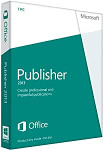 Microsoft Publisher 2013, Licence Card, 1 User (PC)
